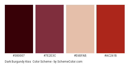 Dark Burgundy Kiss Color Scheme Brown Schemecolorcom