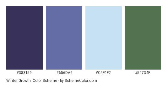 Winter Growth Color Scheme » Blue » SchemeColor.com