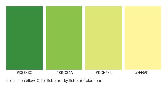 Green To Yellow Color Scheme » Green » SchemeColor.com