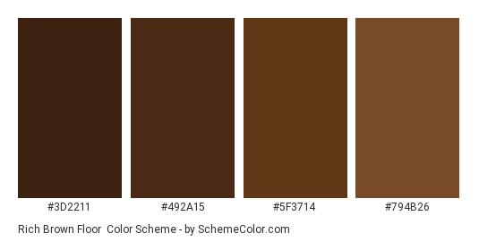 Rich Brown Floor Color Scheme Palette Thumbnail 2211 492a15 5f3714