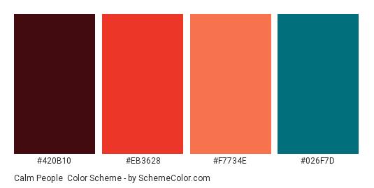 calm people color scheme brown schemecolor com