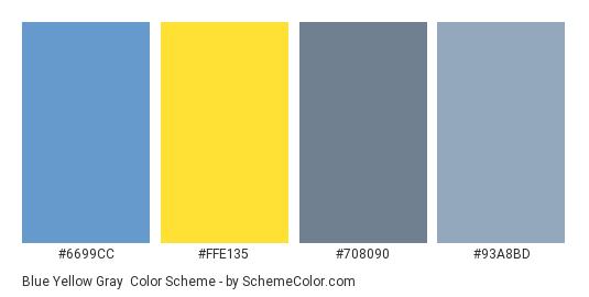 Blue Yellow Gray Color Scheme Schemecolor