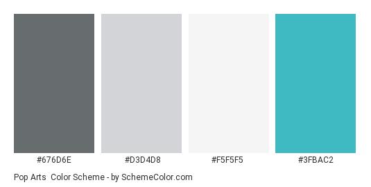 Pop Arts Color Scheme Gray Schemecolor Com