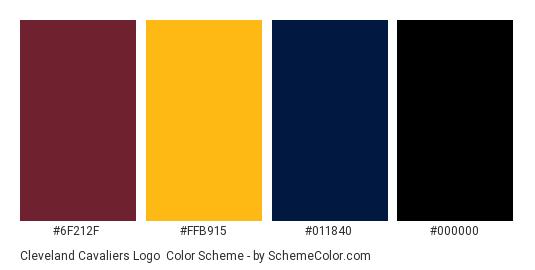 Cleveland Cavaliers Logo - Color scheme palette thumbnail - #6f212f #ffb915 #011840 #000000