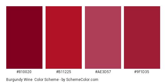 Burgundy Wine Color Scheme » Burgundy » SchemeColor.com