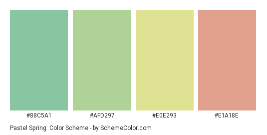 Pastel Spring Color Scheme » Green » SchemeColor.com