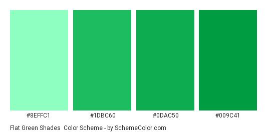 Flat Green Shades Color Scheme Palette Thumbnail 8effc1 1dbc60 0dac50