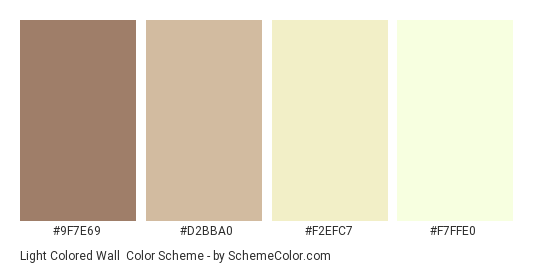 Light Colored Wall Color Scheme » Brown » SchemeColor.com