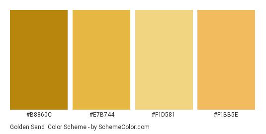 Golden Sand - Color scheme palette thumbnail - #B8860C #E7B744 #F1D581 #F1BB5E