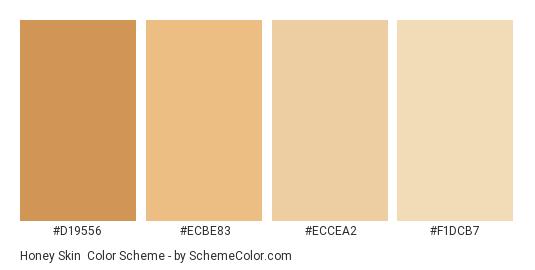 Honey Skin - Color scheme palette thumbnail - #D19556 #ECBE83 #ECCEA2 #F1DCB7