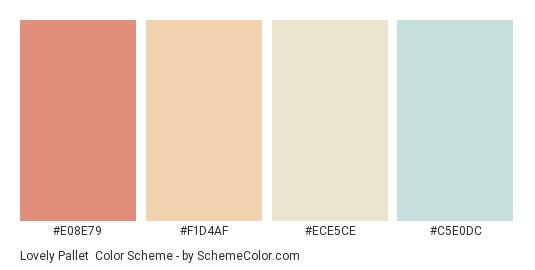 Lovely Pallet - Color scheme palette thumbnail - #E08E79 #F1D4AF #ECE5CE #C5E0DC
