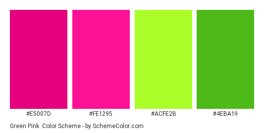 Green Pink Color Scheme