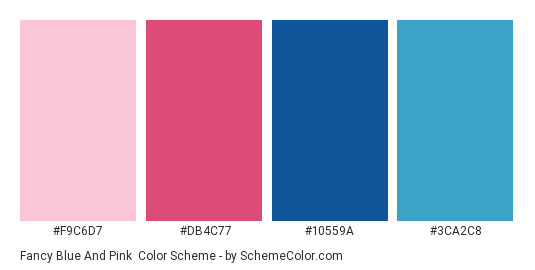Fancy Blue And Pink Color Scheme Palette Thumbnail F9c6d7 Db4c77 10559a