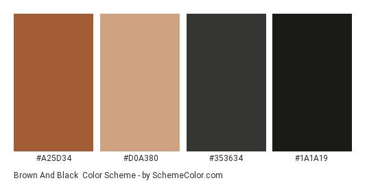 Brown And Black Color Scheme Palette Thumbnail A25d34 D0a380 353634