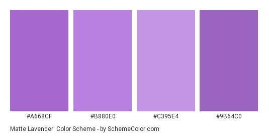 Matte Lavender - Color scheme palette thumbnail - #a668cf #b880e0 #c395e4 #9b64c0