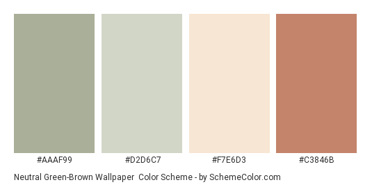 Neutral Green Brown Wallpaper Color Scheme Palette Thumbnail Aaaf99 D2d6c7