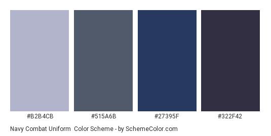 Navy Combat Uniform Color Scheme 187 Blue 187 Schemecolor Com