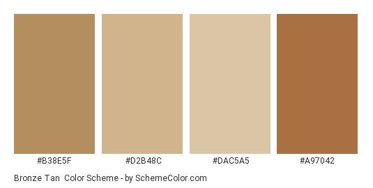 Bronze Tan - Color scheme palette thumbnail - #b38e5f #d2b48c #dac5a5 #a97042