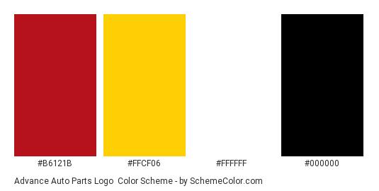 Advance Auto Parts Logo Color Scheme Black Schemecolor Com