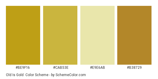 Old Is Gold Color Scheme Schemecolor