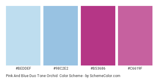 Pink And Blue Duo Tone Orchid Color Scheme Palette Thumbnail Beddef 98c2e2