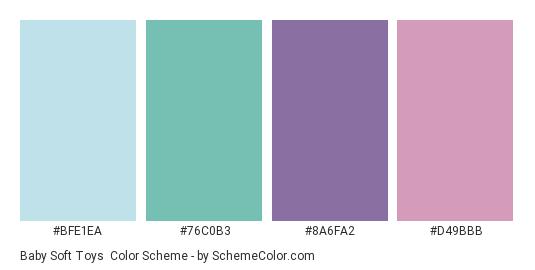 Baby Soft Toys Color Scheme Palette Thumbnail Bfe1ea 76c0b3 8a6fa2