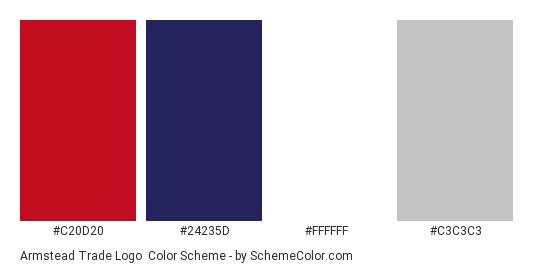 Armstead Trade Logo - Color scheme palette thumbnail - #c20d20 #24235d #ffffff #c3c3c3