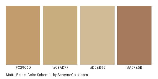 Matte Beige - Color scheme palette thumbnail - #c29c6d #c8ad7f #d0bb96 #a67b5b