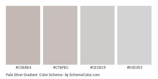 Pale Silver Gradient - Color scheme palette thumbnail - #c3b8b4 #c7bfbc #cecbc9 #d3d3d3