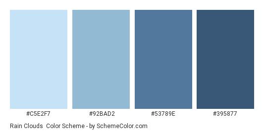 Rain Clouds Color Scheme Palette Thumbnail C5e2f7 92bad2 53789e 395877