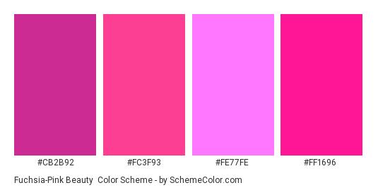 Fuchsia Pink Beauty Color Scheme Palette Thumbnail Cb2b92 Fc3f93 Fe77fe