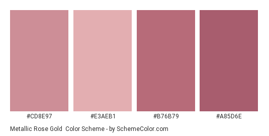 Metallic Rose Gold Color Scheme » Gold » SchemeColor.com