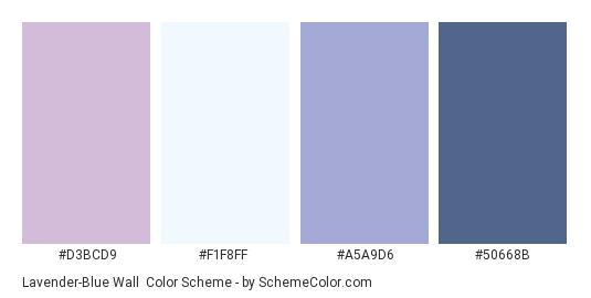 Lavender-Blue Wall - Color scheme palette thumbnail - #d3bcd9 #f1f8ff #a5a9d6 #50668b