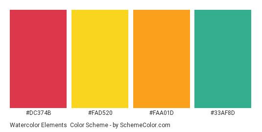 watercolor elements color scheme bright schemecolor com