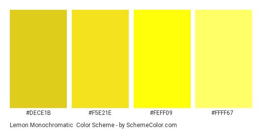 Lemon Monochromatic - Color scheme palette thumbnail - #dece1b #f5e21e #feff09 #ffff67