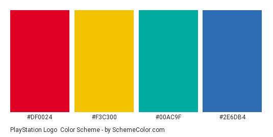 Playstation Logo Color Scheme Blue Schemecolor Com