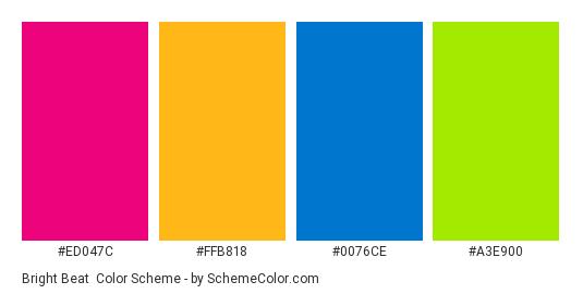Bright Beat Color Scheme Blue Schemecolor Com