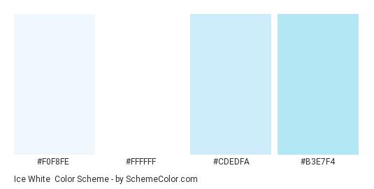 Ice White - Color scheme palette thumbnail - #f0f8fe #ffffff #cdedfa #b3e7f4