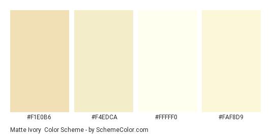 Matte Ivory - Color scheme palette thumbnail - #f1e0b6 #f4edca #fffff0 #faf8d9