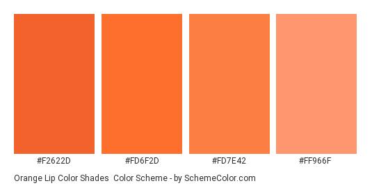 Orange Lip Color Shades Scheme