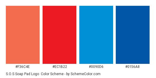 S O S Soap Pad Logo Color Scheme Blue Schemecolor Com