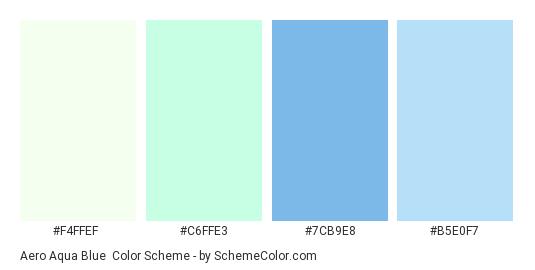 Aero Aqua Blue Color Scheme Palette Thumbnail F4ffef C6ffe3 7cb9e8