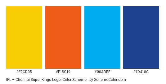 IPL – Chennai Super Kings Logo Color Scheme » Brand and Logo