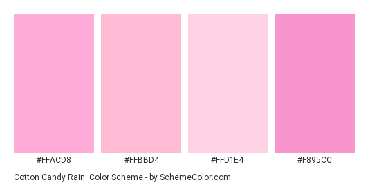 5613074e8b070 Cotton Candy Rain Color Scheme » Light » SchemeColor.com