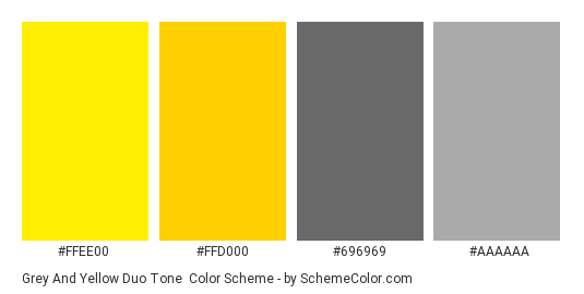 Grey And Yellow Duo Tone Color Scheme Palette Thumbnail Ffee00 Ffd000