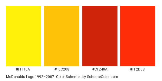 Image result for mcdonalds color palette
