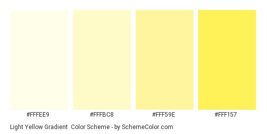 Light Yellow Gradient - Color scheme palette thumbnail - #fffee9 #fffbc8 #fff59e #fff157