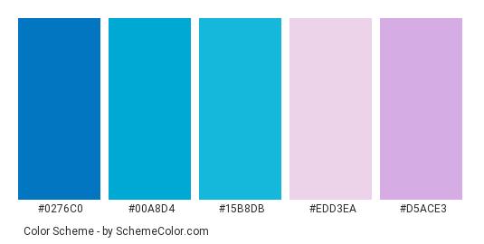 Blue Pink Gl Color Scheme Palette Thumbnail 0276c0 00a8d4 15b8db