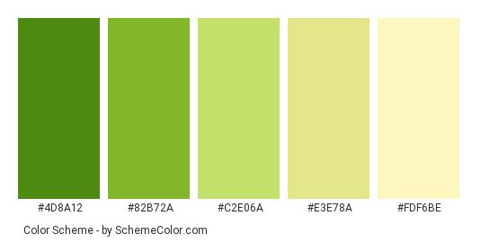 Lime Greens Color Scheme Green Schemecolor Com