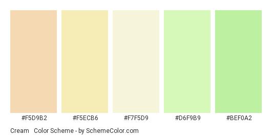 Cream & Green Wedding Color Scheme » Cream » SchemeColor.com